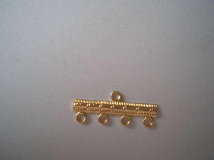 Ramínko 4kroužky galvanizace 36300 zlatá 1ks