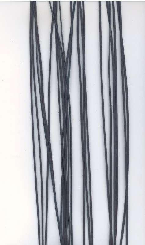 Kožený řemínek plochý barva šedá šíře 2mm délka 1m.