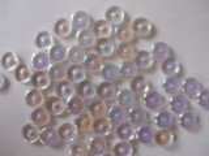 Korálky tvar  kolečka velikost 8x3mm barva krystal pokov AB 30ks