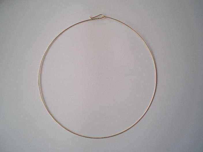 Kruh na krk velikost 150 mm galvanizace zlatá 1ks