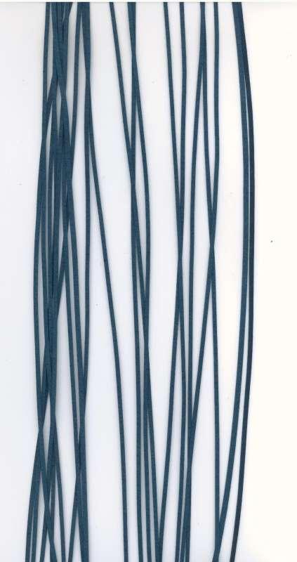 Kožený řemínek plochý barva modro zelená šíře 2mm délka 1m.