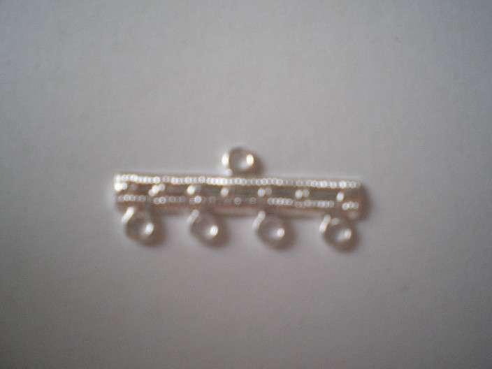 Ramínko 4 kroužky galvanizace 31100 stříbrná 1ks