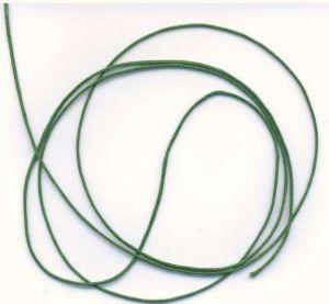 Voskovaná šnůra síla 1mm tm.zelená 1M