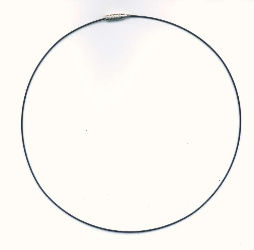 Kruh na krk šroubovací zapínání barva černá průměr 145cm 1ks.