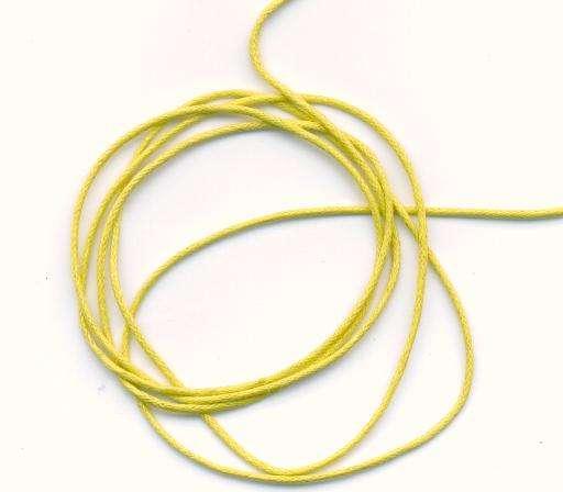 Voskovaná šnůra síla 1mm barva žlutá délka 1m.