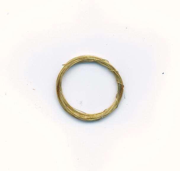 Dekorativní drát barva zlatá síla 0,3mm délka 5m. Více výrobců - doplňkový sortiment