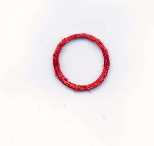 Dekorativní drát barva jasně červená 0,3mm délka 5m. Více výrobců - doplňkový sortiment