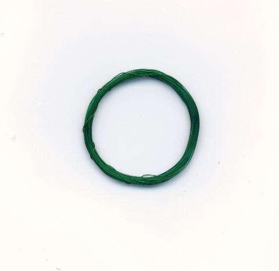 Dekorativní drát barva zelená síla 0,3mm délka 5m. Více výrobců - doplňkový sortiment