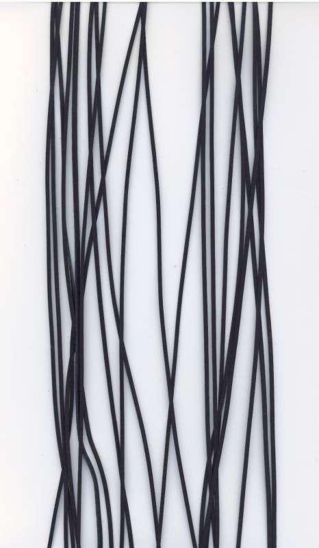 Kožený řemínek plochý barva černá šíře 2mm délka 1m.