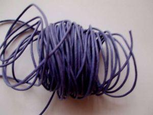 Voskovaná šnůra síla 1mm barva světle  fialová  1M