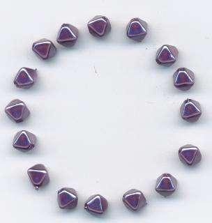 Korálky lampičky 6 mm vosk barva fialová 16ks Firma Petr Machačka - výroba skleněné korálky