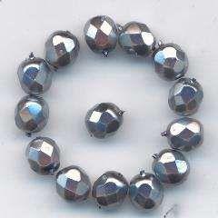 Korálky  broušené 15119001 velikost  7mm barva vosk šedivý 14ks