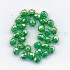 Korálky  broušené15119001 velikost  4mm povrch vosk barva zelená 30ks