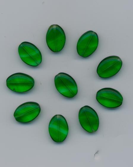 Korálky dárek tvar šváb 14/10 zelené10ks Firma Petr Machačka - výroba skleněné korálky