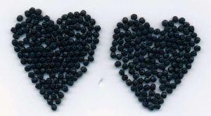 Korálky angličák černá 4mm 100gr.