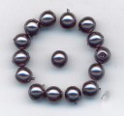Korálky  Skleněné perle 6mm vosk - šedý  16ks