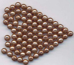 Korálky mačkané velikost  8mm povrch vosk  barva bronz I.jakost 100gr.