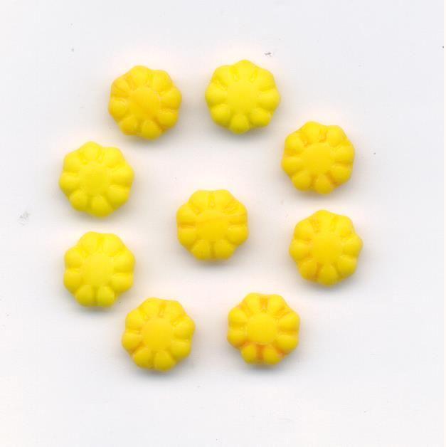 Korálky tvar květina mat 100gr. II.j. Firma Petr Machačka - výroba skleněné korálky