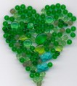 Korálky výhodná barevně sladěná sada zelená I.jakost 100gr.