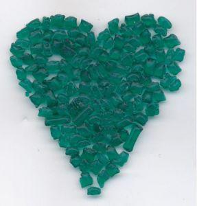 Skleněná drť tmavě zelená transparent 1KG