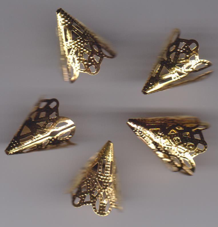 Ozdobný kaplik 2,3x1,2 cm zlato 1ks. Více výrobců - doplňkový sortiment