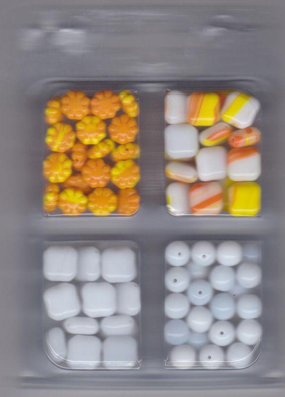 Korálky barevně sladěná sada Firma Petr Machačka - výroba skleněné korálky