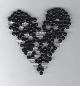 Korálky mix 5mm černé+ 6mm krystal 100gr. II.j.
