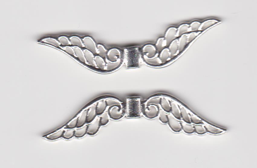 Kovodíl andělská křídla 5cm stříbro 1ks. Více výrobců - doplňkový sortiment