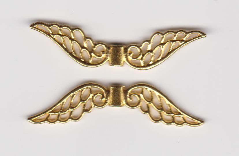 Kovodíl andělská křídla 5cm zlato 1ks. Více výrobců - doplňkový sortiment