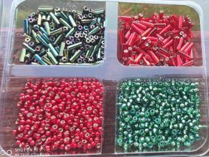 Rokajl 9/0 krabička 97120+57100 + čípky 6mm 59155 iris + 97090 60gr.