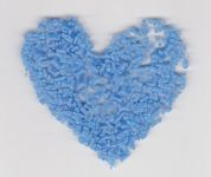 Skleněná drť světle modrá drobná sytá 1KG