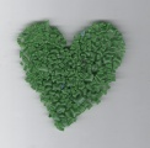 Skleněná drť zelená sytá 1KG