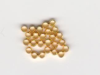 Zamačkávací rokajl povrchová úprava zlato 2,5mm 35300 20ks
