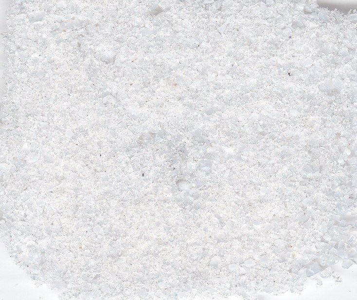 Skleněná drť - výpichy - velmi jemná bílá 250gr. Firma Petr Machačka - výroba skleněné korálky